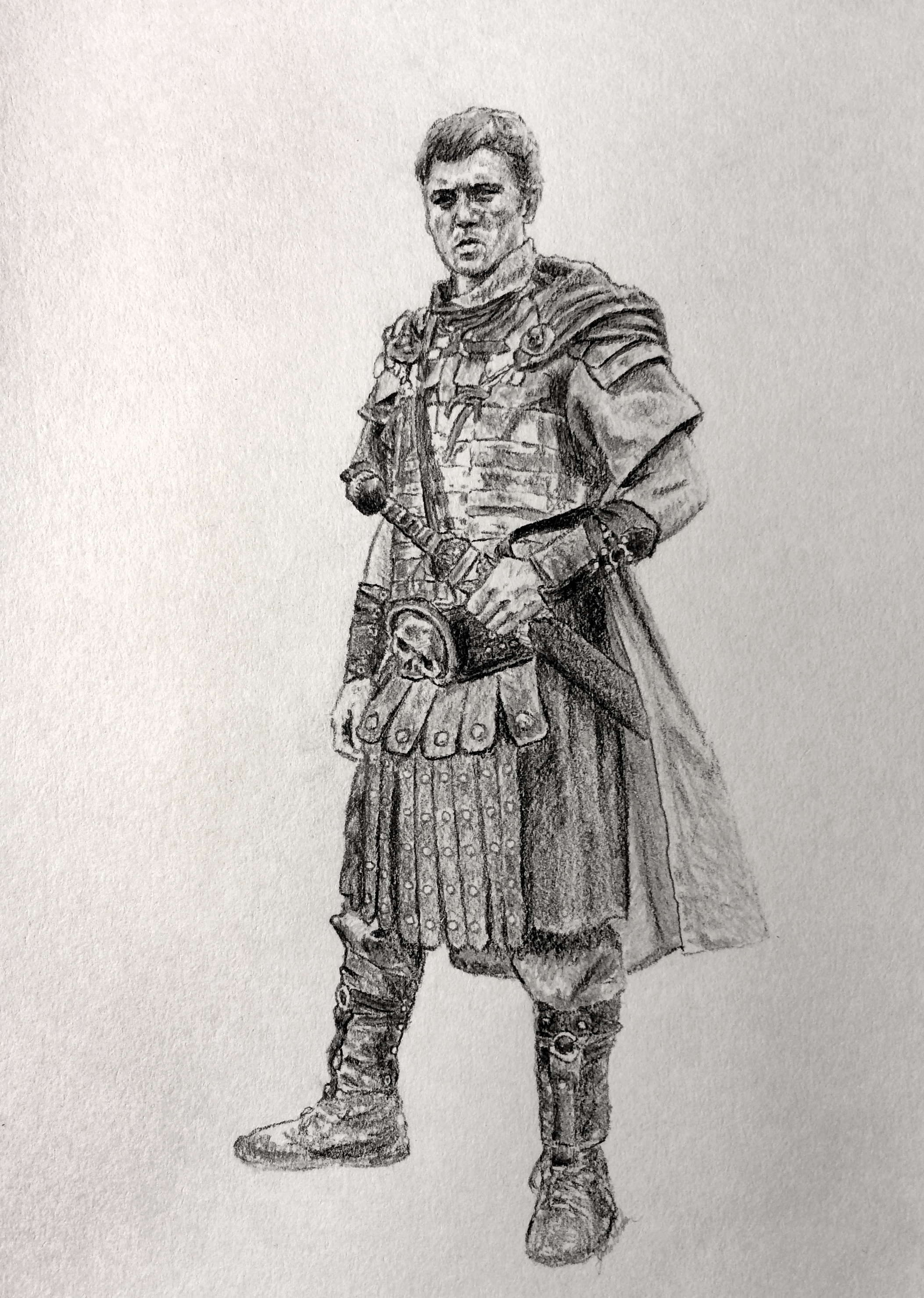 Roman Soldier Drawing