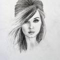 Female Portrait Drawing 6
