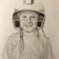 Girl Baseball Drawing