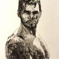 Muddy Portrait Drawing